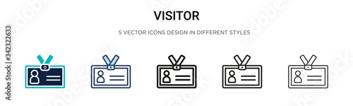 Fotografie, Obraz Visitor icon in filled, thin line, outline and stroke style