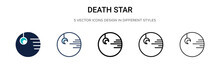 Death Star Icon In Filled, Thi...