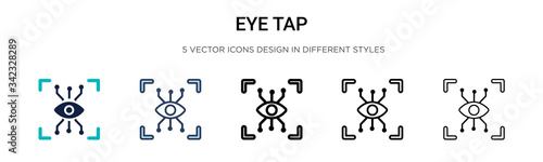 Fototapety, obrazy: Eye tap icon in filled, thin line, outline and stroke style. Vector illustration of two colored and black eye tap vector icons designs can be used for mobile, ui, web