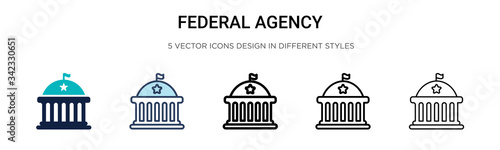 Fotografia Federal agency icon in filled, thin line, outline and stroke style