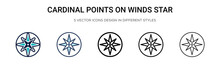 Cardinal Points On Winds Star ...