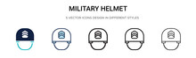Military Helmet Icon In Filled...