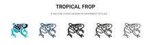 Tropical Frop Icon In Filled, ...
