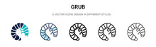 Grub Icon In Filled, Thin Line...