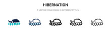 Hibernation Icon In Filled, Th...