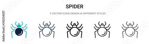 Photo Spider icon in filled, thin line, outline and stroke style