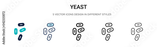 Fototapeta Yeast icon in filled, thin line, outline and stroke style