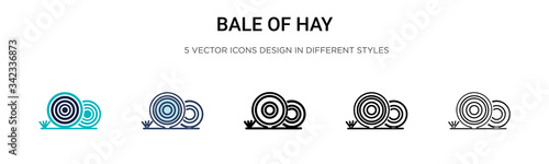 Photo Bale of hay icon in filled, thin line, outline and stroke style