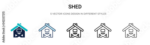 Fotografía Shed icon in filled, thin line, outline and stroke style