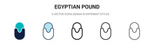 Egyptian Pound Icon In Filled,...