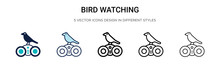 Bird Watching Icon In Filled, ...