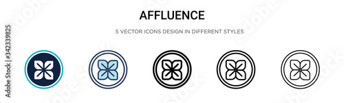 Photo Affluence icon in filled, thin line, outline and stroke style