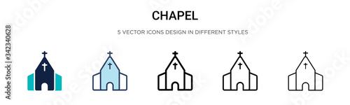 Foto Chapel icon in filled, thin line, outline and stroke style