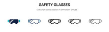 Safety Glasses Icon In Filled,...