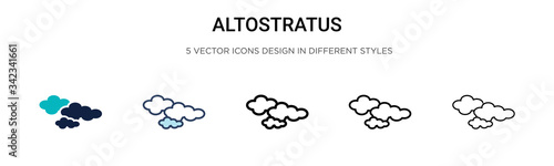 Photo Altostratus icon in filled, thin line, outline and stroke style