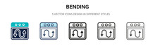 Bending Icon In Filled, Thin L...