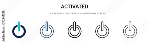 Photo Activated icon in filled, thin line, outline and stroke style
