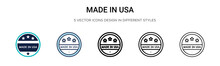 Made In Usa Icon In Filled, Th...