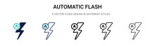 Automatic Flash Icon In Filled...