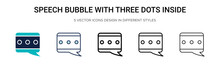Speech Bubble With Three Dots ...