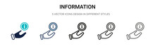 Information Signal Icon In Fil...