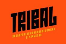 Tribal Style Font Design, Alph...