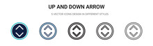 Up And Down Arrow Icon In Fill...