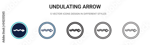 Fotografía Undulating arrow icon in filled, thin line, outline and stroke style