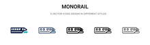 Monorail Icon In Filled, Thin ...