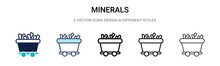 Minerals Icon In Filled, Thin ...