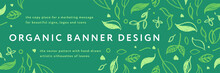 Vector Herbal Banner With Draw...