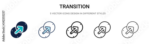 Fotografija Transition icon in filled, thin line, outline and stroke style