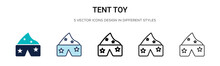 Tent Toy Icon In Filled, Thin ...