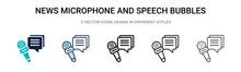 News Microphone And Speech Bub...