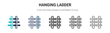 Hanging Ladder Icon In Filled,...