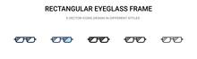 Rectangular Eyeglass Frame Ico...