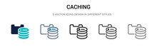 Caching Icon In Filled, Thin L...