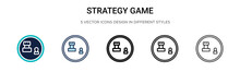 Strategy Game Icon In Filled, ...