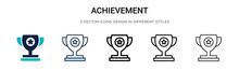 Achievement Icon In Filled, Th...