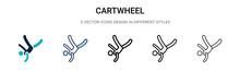 Cartwheel Icon In Filled, Thin...