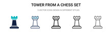 Tower From A Chess Set Icon In...