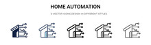 Home Automation Icon In Filled...