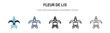 Fleur De Lis Icon In Filled, T...