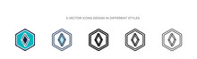 Logogram Icon In Filled, Thin ...