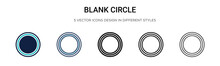 Blank Circle Icon In Filled, T...