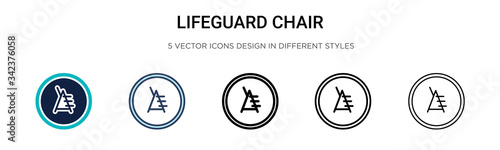 Valokuva Lifeguard chair icon in filled, thin line, outline and stroke style