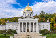 The Vermont State House In Mon...