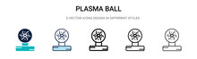 Plasma Ball Icon In Filled, Th...