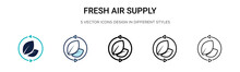Fresh Air Supply Icon In Fille...