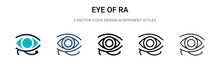 Eye Of Ra Icon In Filled, Thin...